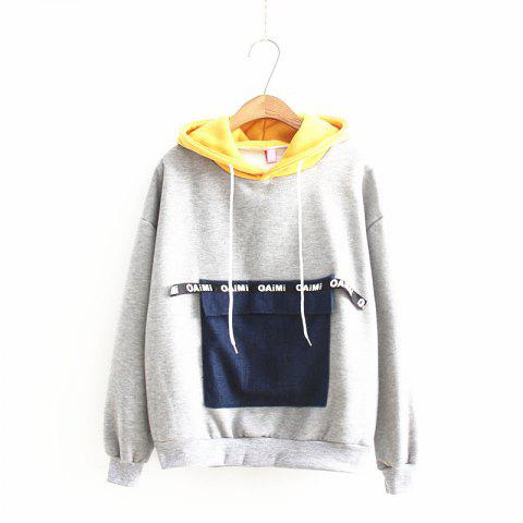 Cheap New Jeans Pocket Stitching Hoodie