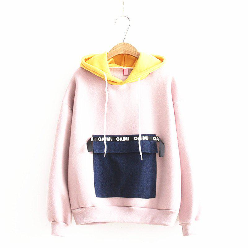 Online New Jeans Pocket Stitching Hoodie