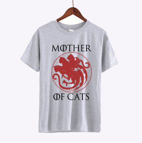 Buy Mother of Cats Letter Print T-shirts Women 2017 Cotton Short Sleeve Tshirts