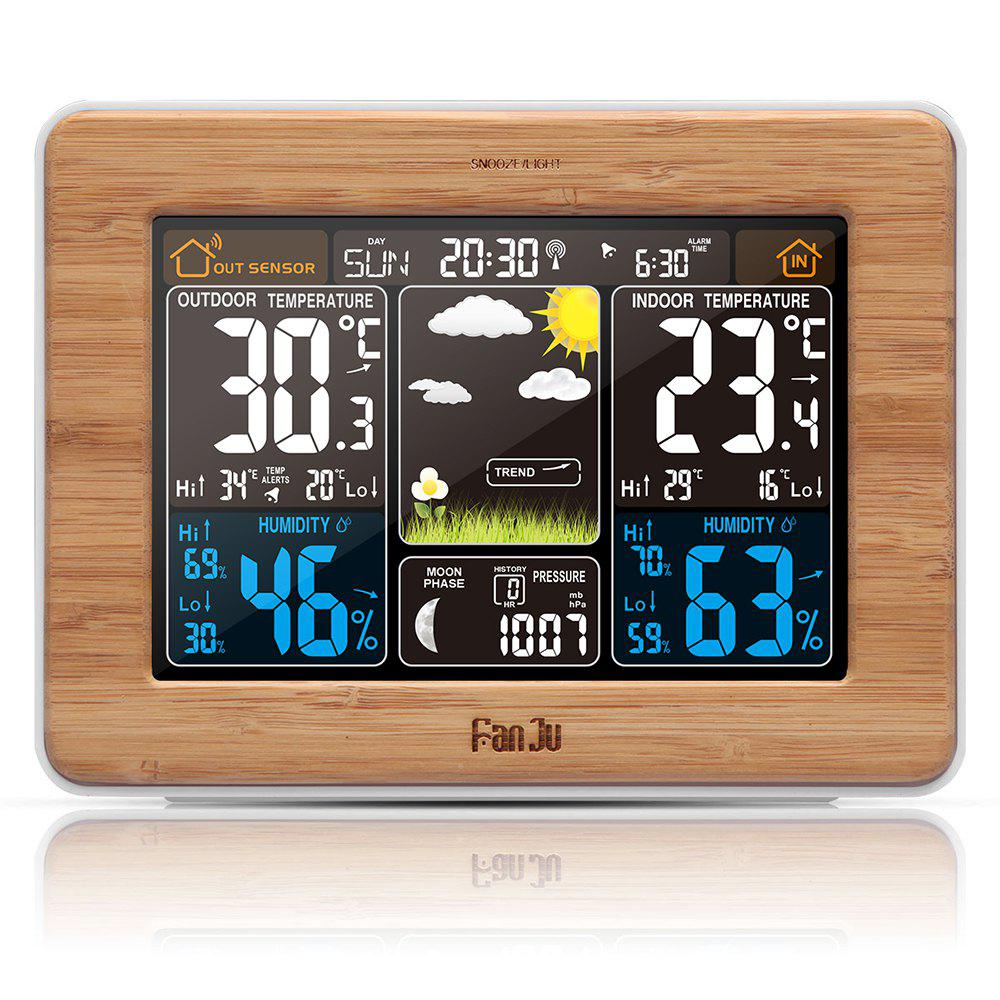 Fashion FanJu FJ3365 Weather Station Color Forecast with Alert Temperature Humidity Barometer Alarm Moon Phase