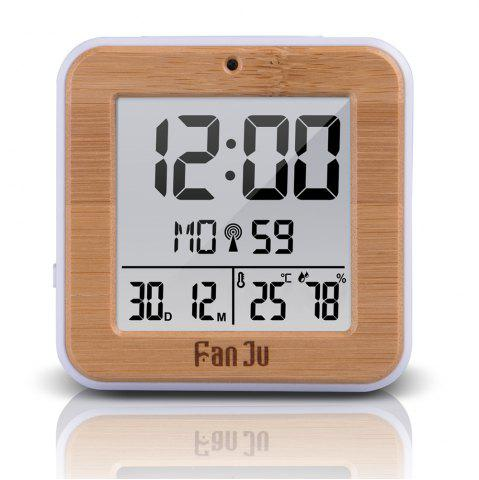 Affordable FJ3533 LCD Digital Alarm Clock with Indoor Temperature and Humidity,Dual Alarm,Battery Operated,Snooze,Date,Alarm