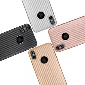 Soft Carbon Fiber Phone Case for iPhone X -