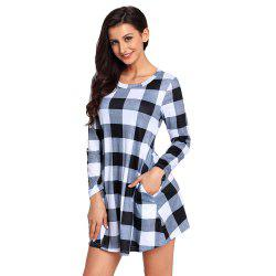 Multicolor Plaid Mini Dress -