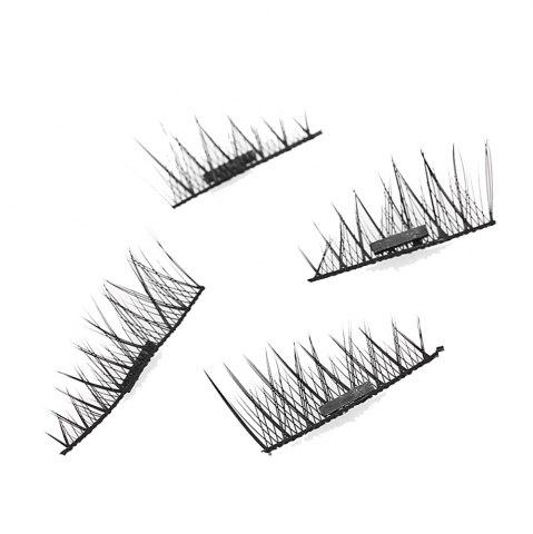 Store Imitation Magnetic False Eyelashes Free Glue Reusable 3D Stereoscopic Natural Makeup Eye Tools Kit One Pair