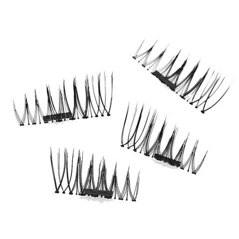 Discount Imitation Magnetic False Eyelashes Free Glue Reusable 3D Stereoscopic Natural Makeup Eye Tools Kit One Pair