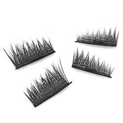 Imitation Magnetic False Eyelashes Free Glue Reusable 3D Stereoscopic Natural Makeup Eye Tools Kit One Pair -