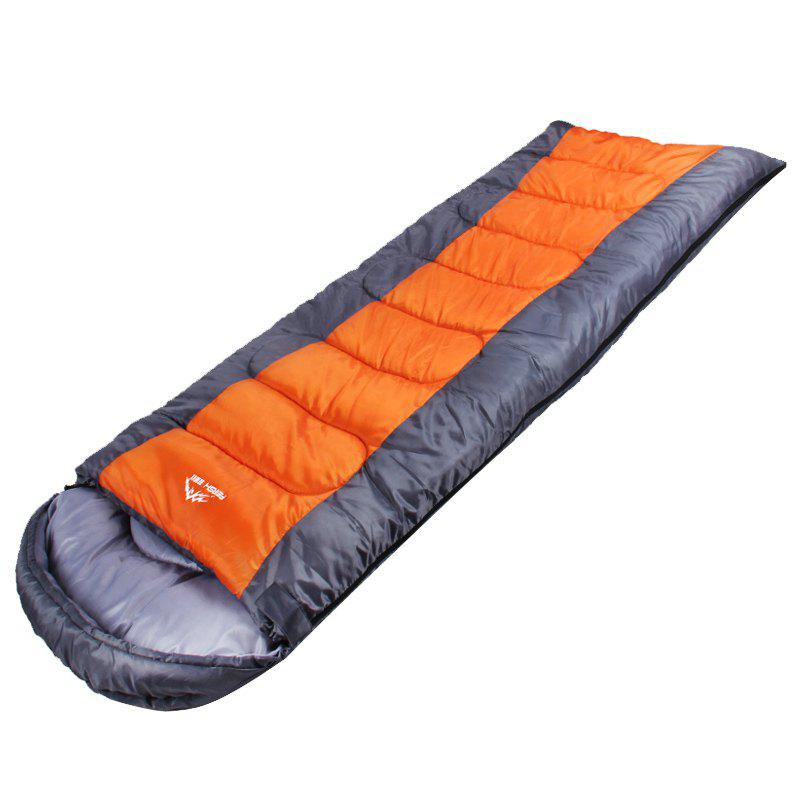 Affordable FERISH Outdoor Autumn and Winter Envelope Thermal Insulation Sleeping Bag Adult can be Stitched Sleeping Bag