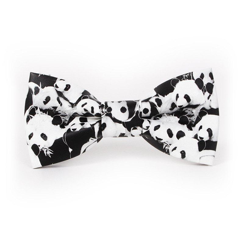 Unique PU Leather Bow Tie for Men
