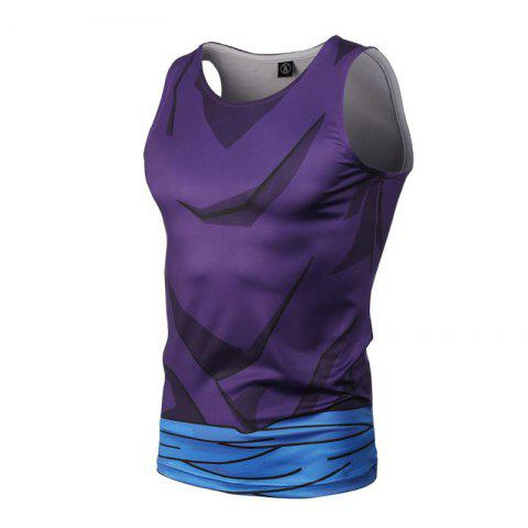New Fashion and Leisure Personality Creative Collision Color 3D Digital Print Vest Hot Style