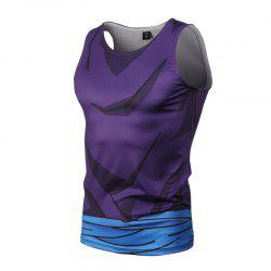 Fashion and Leisure Personality Creative Collision Color 3D Digital Print Vest Hot Style -