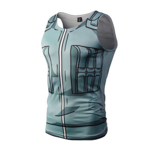 Outfit Fashion Casual Creative 3D Digital Print Vest Hot Style