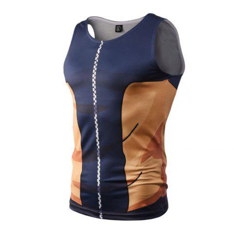 Chic Street Fashion Casual Creative 3D Digital Printed Vest Hot Style