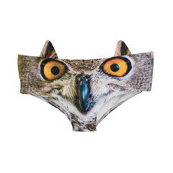 Fashion Animal Ear Underwear  Owl 3D Printing Sexy Panties Woman Underwear -