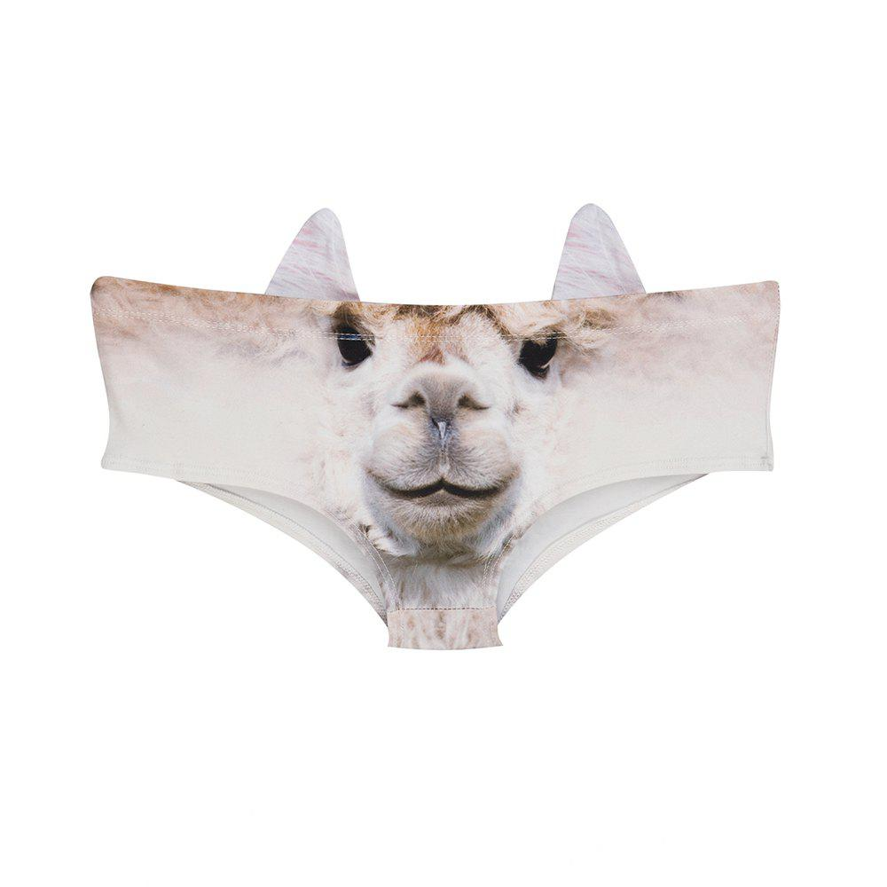 Hot Fashion Animal Ear Underwear  Camel 3D Printing Sexy Panties Woman Underwear