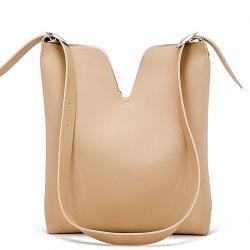 Simple Adjustable Shoulder Slung Large Bucket Bag -