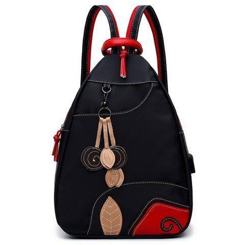 Unique Nylon Backpack Backpack Female Embroidery Fashion Small Fresh Multifunctional Handbag Shoulder Bag Large Travel Bag