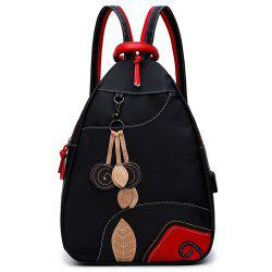 Nylon Backpack Backpack Female Embroidery Fashion Small Fresh Multifunctional Handbag Shoulder Bag Large Travel Bag