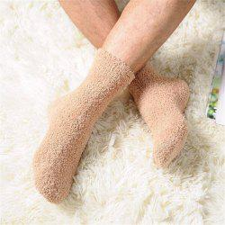 Fashionable Men Socks Pure Warm Winter Fluffy Soft Floor Home Footwear -