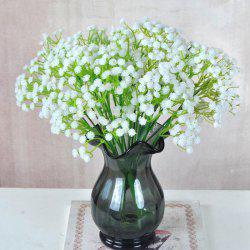 Plastic Flowers Vivid Artificial Babysbreath Bouquet Decorative Display -