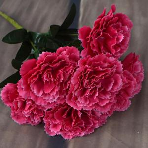 Artificial Carnation Bouquet Vivid Silk Like Flower Home Decor -
