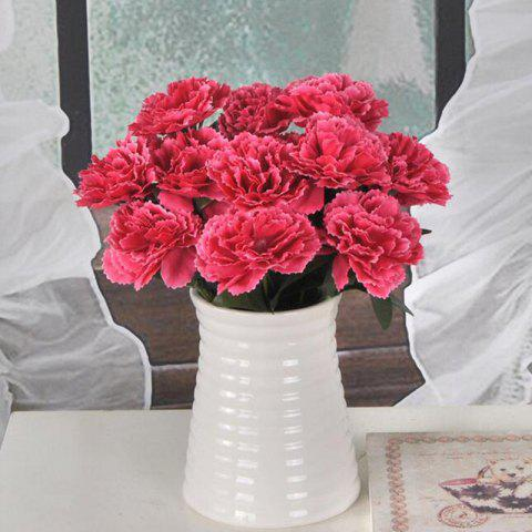 Discount Artificial Carnation Bouquet Vivid Silk Like Flower Home Decor