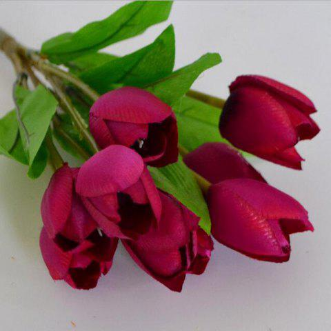 Buy Artificial Silk Flowers Lifesome Tulip Bouquet Home Decor Simulation Flowers
