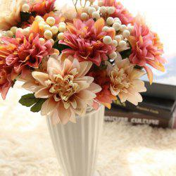 Artificial Flower Bouquet Set Vivid Bright Decorative Simulation Flower Display -