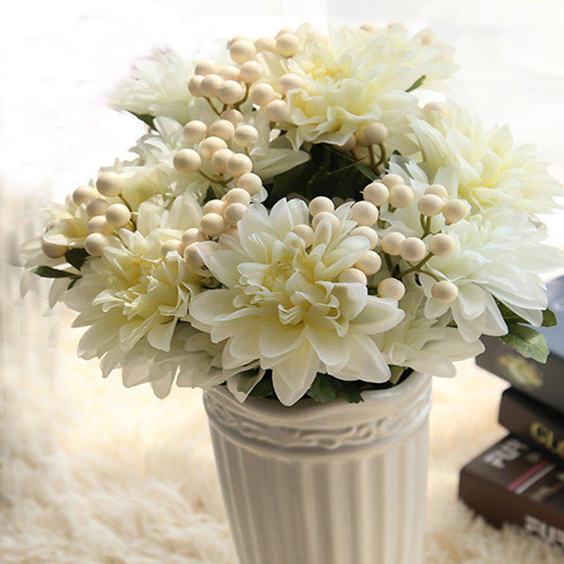 Fashion Artificial Flower Bouquet Set Vivid Bright Decorative Simulation Flower Display