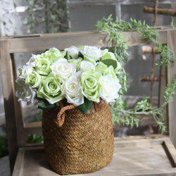 Simulation Rose Flowers Bouquet Lifesome Glorious Home Decorative Artificial Flowers -