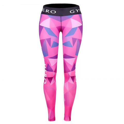 Unique Fitness Yoga Sport Pants Printed Stretch Point Leggings