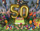 50th BIRTHDAY PARTY DECORATIONS KIT Happy Birthday Foil Balloons 50 Number Balloon Gold Balck Gold and White Latex Balloons Perfect 50 Year Old Party Supplies -