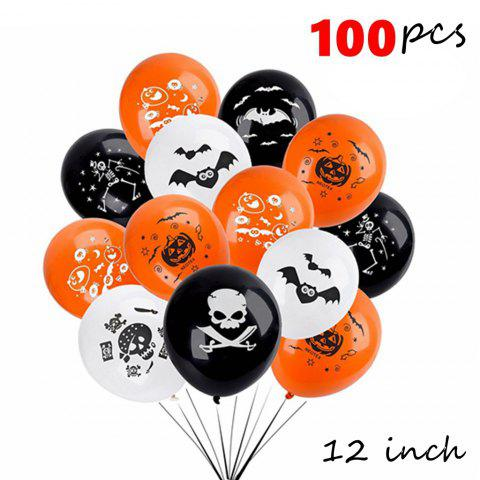 New Halloween Balloons Scary Pumpkin and Bat Ghoulish Demon 100pcs