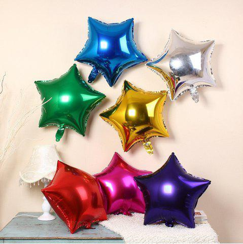 Store 3pcs Star Shape Foil Mylar Balloons 6 Color 18 Inch Pentagram Balloon For Birthday Party Wedding Decoration