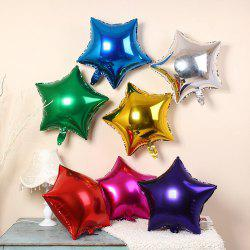 3pcs Star Shape Foil Mylar Balloons 6 Color 18 Inch Pentagram Balloon For Birthday Party Wedding Decoration -