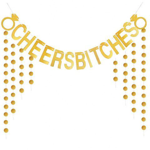 Affordable Cheers Bitches Banner With Gold Glitter Confetti For Bridal Shower Bachelorette Party Birthday Gold Party