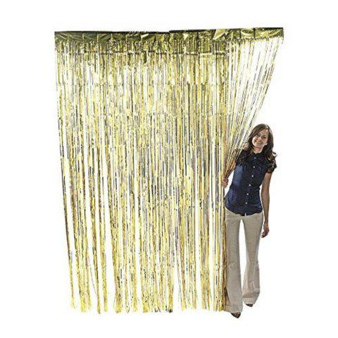 Fancy Metallic Gold Foil Fringe Party Decoration Door Curtains