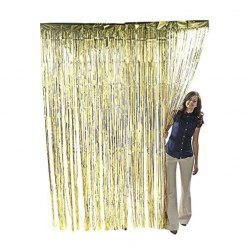 Metallic Gold Foil Fringe Party Decoration Door Curtains -