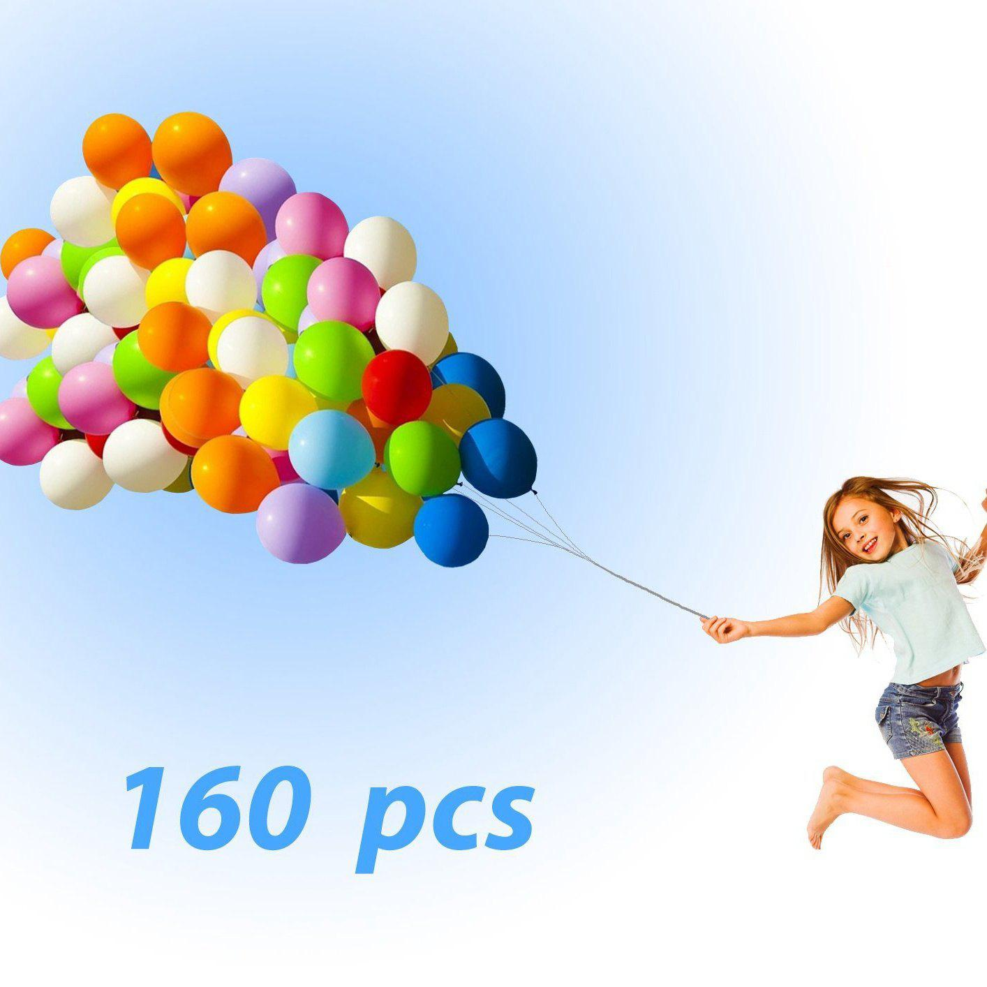 Fashion Latex Balloons 160PCs Party Balloons Assorted Color Thick Premium Quality 12 inches Decorations for Birthday Wedding Graduation Ceremony