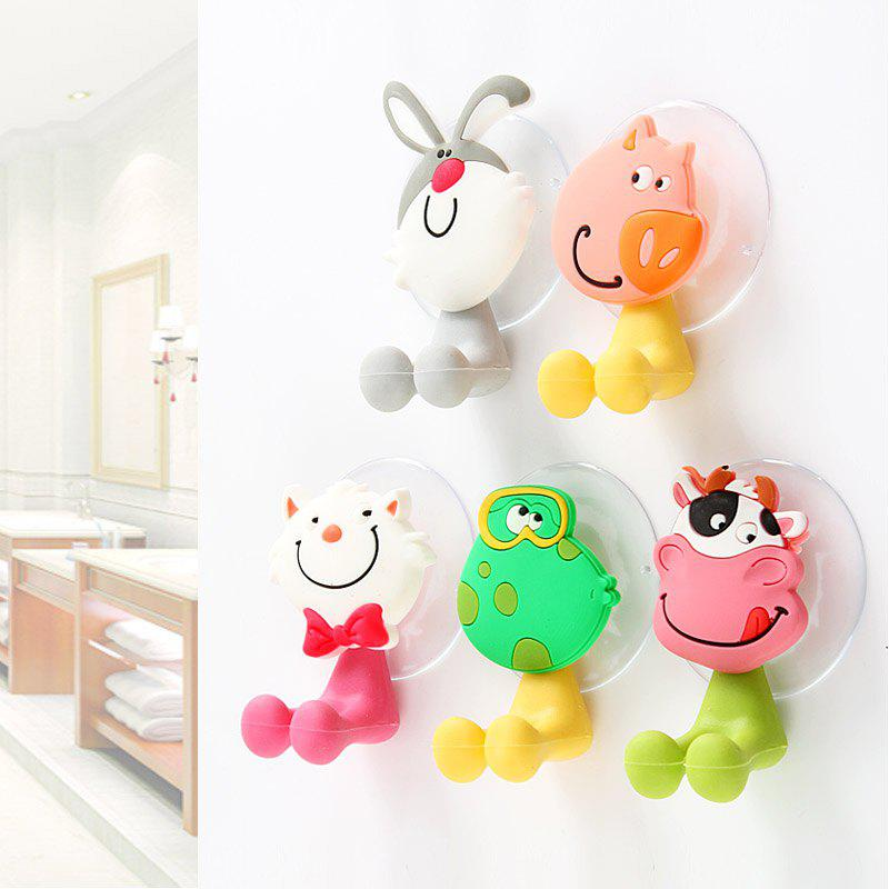 Discount 5 Pcs Toothbrush Holders for Toothbrushes Toothpaste Dispenser Bathroom Accessories Tooth Brush Holder Wall Suction Cups