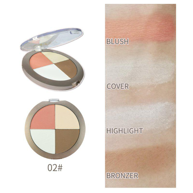4 цвета Bronzer Highlighter Glow Shimmer Powder Makeup Матовый блеск Face Iluminador Компактная контурная палитра