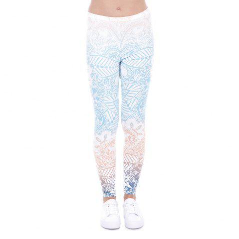 Outfit 3D Digital Printing Blue Series Leggings