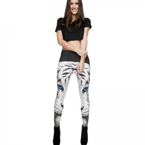 Animal Pattern 3D Digital Printing Feet Slim Pants Leggings -