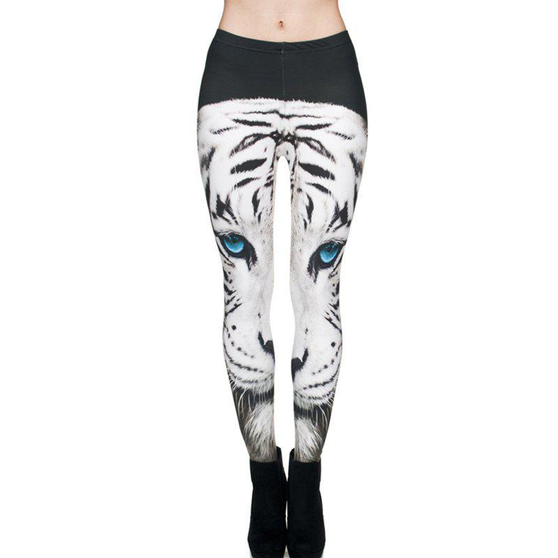 Chic Animal Pattern 3D Digital Printing Feet Slim Pants Leggings