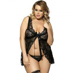 Sexy Pajamas Sexy T Pants Large Nightgown Suit -