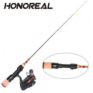 HONOREAL Klash Light Portable Travel Spinning Ice Fishing Rod Reel Combo -