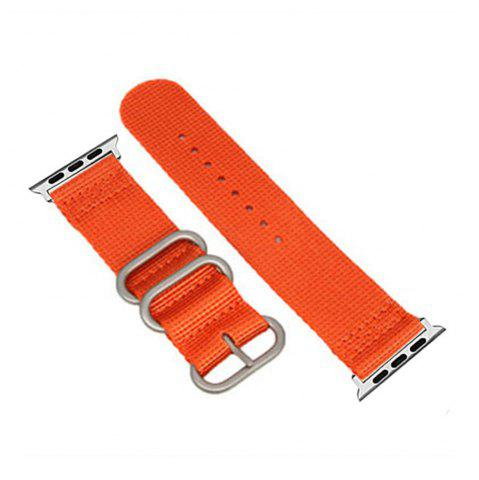 Affordable 42mm Woven Nylon for iWatch Series 3/2/1 Band Replacement Strap With silver Adapters