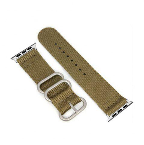Fashion 42mm Woven Nylon for iWatch Series 3/2/1 Band Replacement Strap With silver Adapters