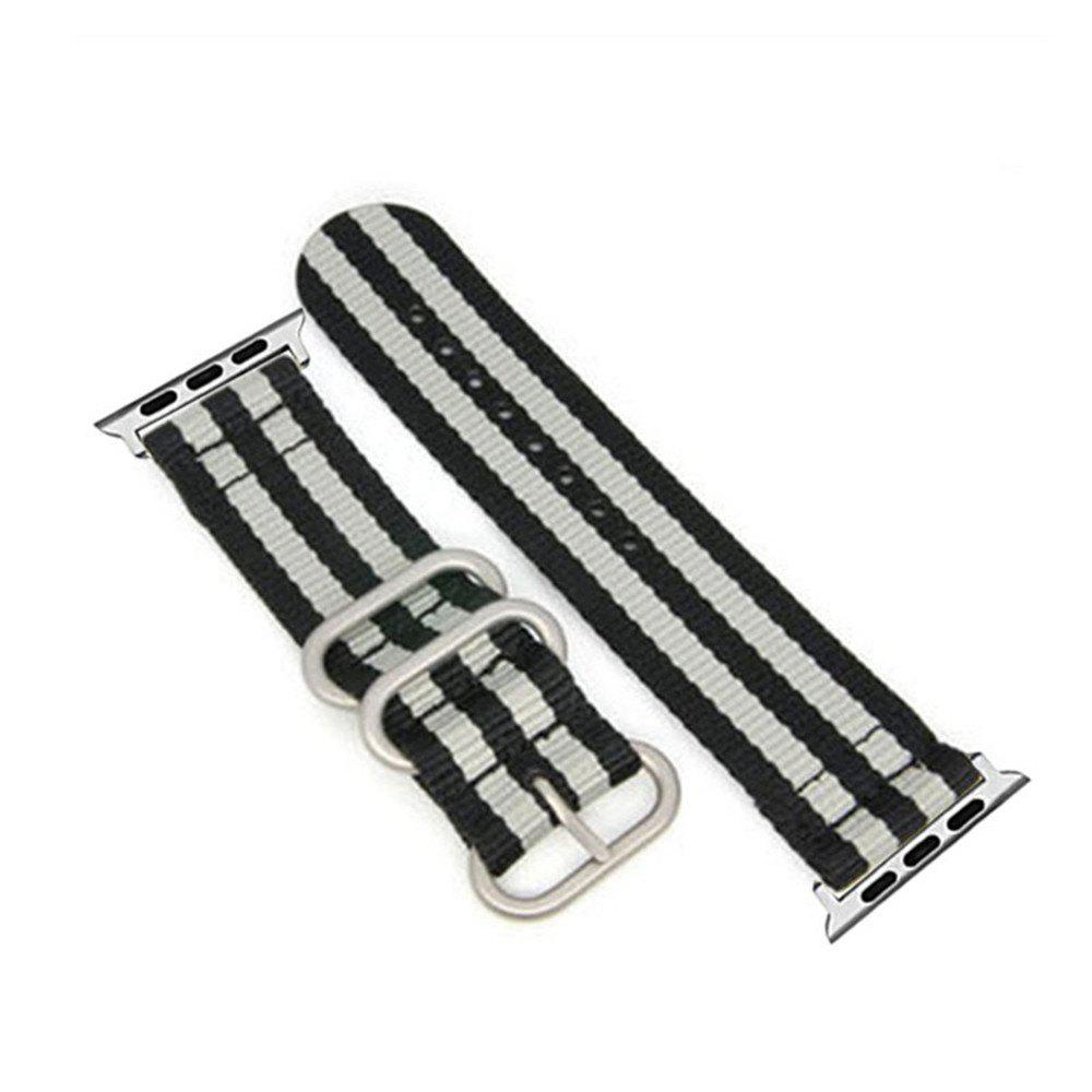 Discount 42mm Woven Nylon for iWatch Series 3/2/1 Band Replacement Strap With silver Adapters