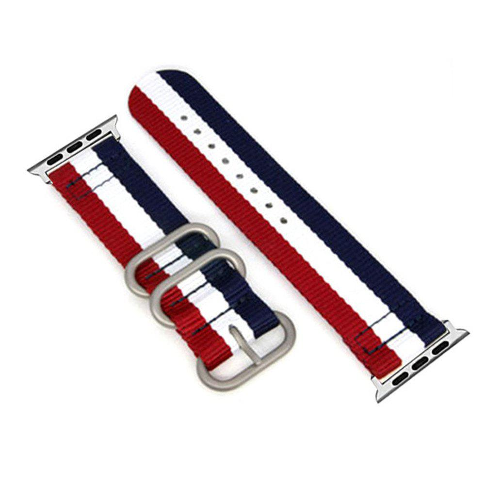 New 42mm Woven Nylon for iWatch Series 3/2/1 Band Replacement Strap With silver Adapters