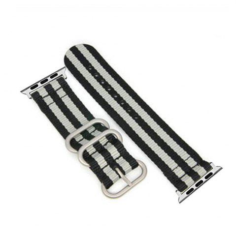 Trendy 38mm Woven Nylon for iWatch Series 3/2/1 Band Replacement Strap With silver Adapters